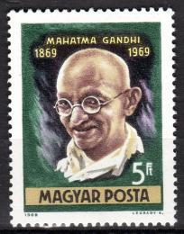 Poštovní známka Maďarsko 1969 Mahathma Gándhí Mi# 2544 - zvětšit obrázek
