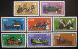 Poštovní známky Maïarsko 1970 Historické automobily Mi# 2564-71