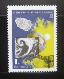 Poštovní známka Maïarsko 1970 Meteorologické služby Mi# 2580