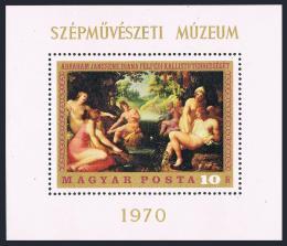 Poštovní známka Maïarsko 1970 Umìní Mi# Block 76