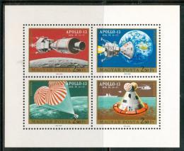 Poštovní známky Maïarsko 1970 Projekt Apollo 13 Mi# 2594-97