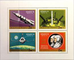 Poštovní známky Maïarsko 1970 Prùzkum vesmíru Mi# 2611-14
