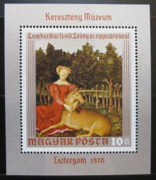Poštovní známka Maïarsko 1970 Umìní Mi# Block 78