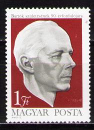Poštovní známka Maïarsko 1971 Béla Bartók, skladatel Mi# 2659