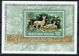 Poštovní známka Maïarsko 1971 Lovecká výstava Mi# Block 82