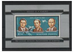 Poštovní známka Maïarsko 1971 Sovìtští kosmonauti Mi# Block 84