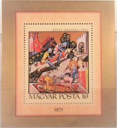 Poštovní známka Maïarsko 1971 Miniatura Mi# Block 85