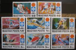 Poštovní známky Maïarsko 1971 ZOH Sapporo Mi# 2720-27