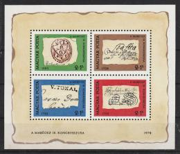 Poštovní známky Maïarsko 1972 Den známek Mi# Block 88