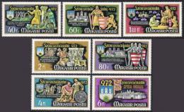 Poštovní známky Maïarsko 1972 Rytíøi Mi# 2782-88