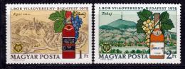 Poštovní známky Maïarsko 1972 Vinaøská výstava Mi# 2792-93