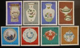 Poštovní známky Maïarsko 1972 Výrobky z porcelánu Mi# 2795-2802