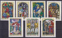 Poštovní známky Maïarsko 1972 Náboženské umìní Mi# 2817-23