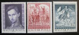 Poštovní známky Maïarsko 1972 Sándor Petofi Mi# 2828-30