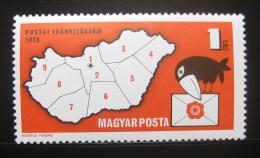 Poštovní známka Maďarsko 1973 Uvedení PSČ Mi# 2831 - zvětšit obrázek