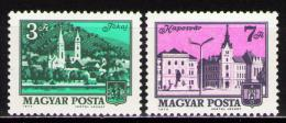 Poštovní známky Maïarsko 1973 Mìsta Mi# 2874-75