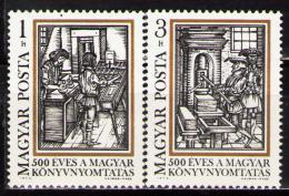 Poštovní známky Maïarsko 1973 Knihtisk, 500. výroèí Mi# 2876-77