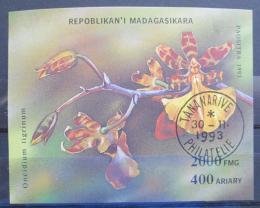 Poštovní známka Madagaskar 1993 Orchidej Mi# Block 239