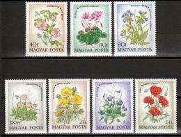 Poštovní známky Maïarsko 1973 Kvìtiny Mi# 2887-93