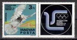 Poštovní známky Maïarsko 1975 Olympijské hry Mi# 3022