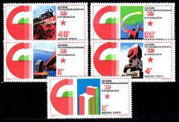 Poštovní známky Maïarsko 1975 Výroèí osvobození Mi# 3026-30