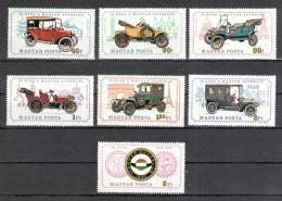 Poštovní známky Maïarsko 1975 Stará auta Mi# 3031-37