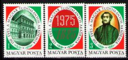 Poštovní známky Maïarsko 1975 Vìdecká akademie Mi# 3039-41
