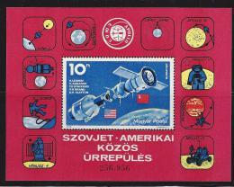 Poštovní známka Maïarsko 1975 Prùzkum vesmíru Mi# Block 111