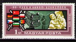 Poštovní známka Maïarsko 1975 Varšavská smlouva, 20. výroèí Mi# 3088