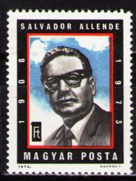 Poštovní známka Maïarsko 1974 Salvador Allende, prezident Chile Mi# 2939