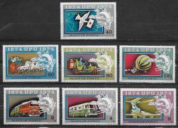 Poštovní známky Maïarsko 1974 UPU, 100. výroèí Mi# 2945-51