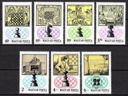 Poštovní známky Maïarsko 1974 Šachy Mi# 2957-63