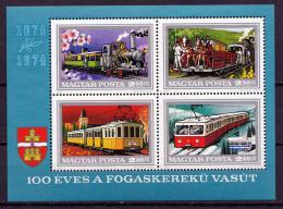 Poštovní známky Maïarsko 1974 Železnice Mi# Block 107