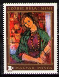 Poštovní známka Maïarsko 1974 Umìní, Czóbel Mi# 2977