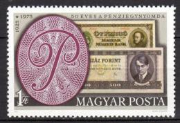 Poštovní známka Maïarsko 1976 Tisk bankovek Mi# 3097