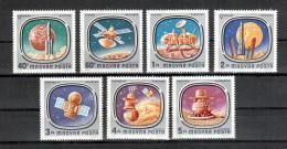 Poštovní známky Maïarsko 1976 Prùzkum vesmíru Mi# 3148-54