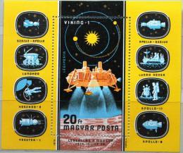 Poštovní známka Maïarsko 1976 Prùzkum vesmíru Mi# Block 121