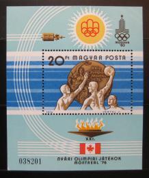 Poštovní známka Maïarsko 1976 LOH Montreal Mi# Block 122