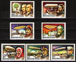 Poštovní známky Maïarsko 1977 Historie letectví Mi# 3230-36