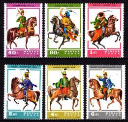 Poštovní známky Maïarsko 1978 Husarské uniformy Mi# 3259-64