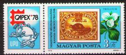 Poštovní známka Maïarsko 1978 Výstava CAPEX Mi# 3293