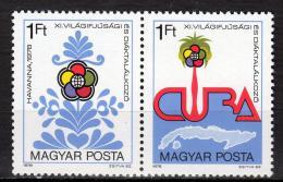 Poštovní známky Maïarsko 1978 Hry mládeže Mi# 3303-04