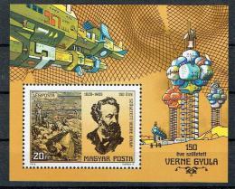 Poštovní známka Maïarsko 1978 Jules Verne Mi# Block 133
