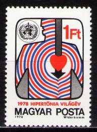 Poštovní známka Maïarsko 1978 Boj s krevním tlakem Mi# 3306