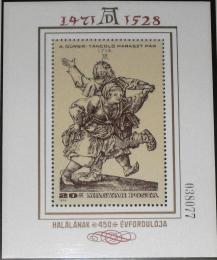 Poštovní známka Maïarsko 1979 Umìní, Dürer Mi# Block 136