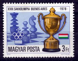 Poštovní známka Maïarsko 1979 Šachová olympiáda Mi# 3341