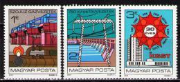 Poštovní známky Maïarsko 1979 COMECON, 30. výroèí Mi# 3351-53