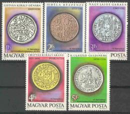 Poštovní známky Maïarsko 1979 Mince Mi# 3372-76