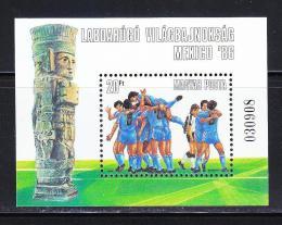 Poštovní známka Maïarsko 1986 MS ve fotbale Mi# Block 183