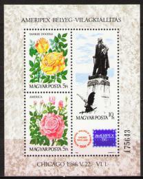 Poštovní známky Maïarsko 1986 Výstava AMERIPEX Mi# Block 184